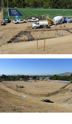 Phase II Construction at Sierra Canyon Athletic Fields Proceeding Smoothly